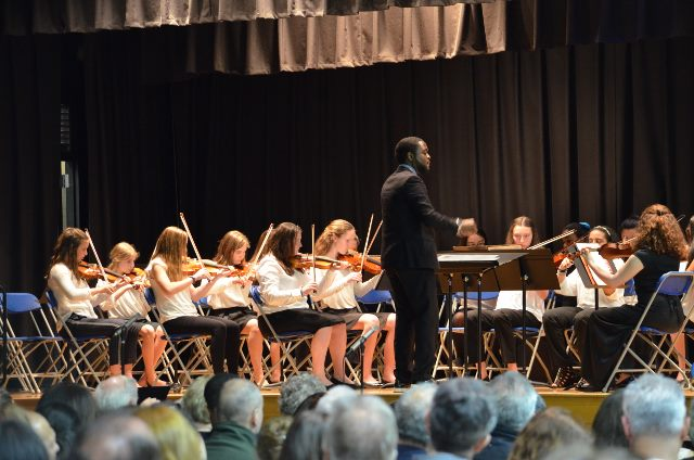 Ninth and Eighth Grade String Class directed by Mark Collins