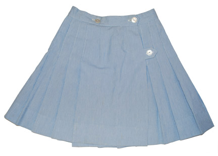 Blue cord skirt