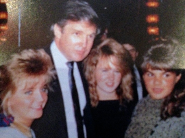 Christine with friends and Trump